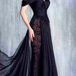 The Maeve :: Black Tulle & Lace Open Sided Wedding Gown