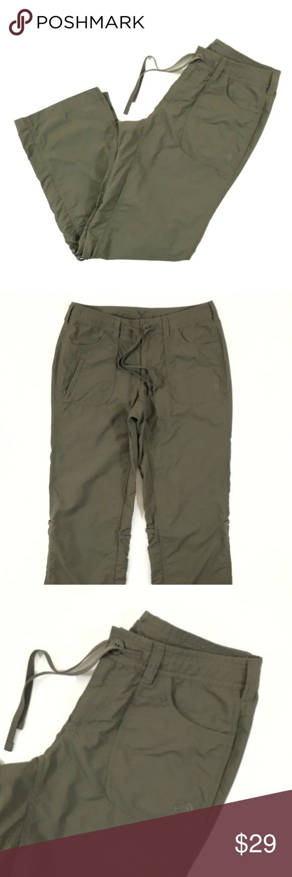 The North Face Hiking Pants Women's 6 Short Green The North Face Nylon Hiking …
