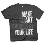 This t-shirt design is bad. Choose a different color so its easy to see and read...