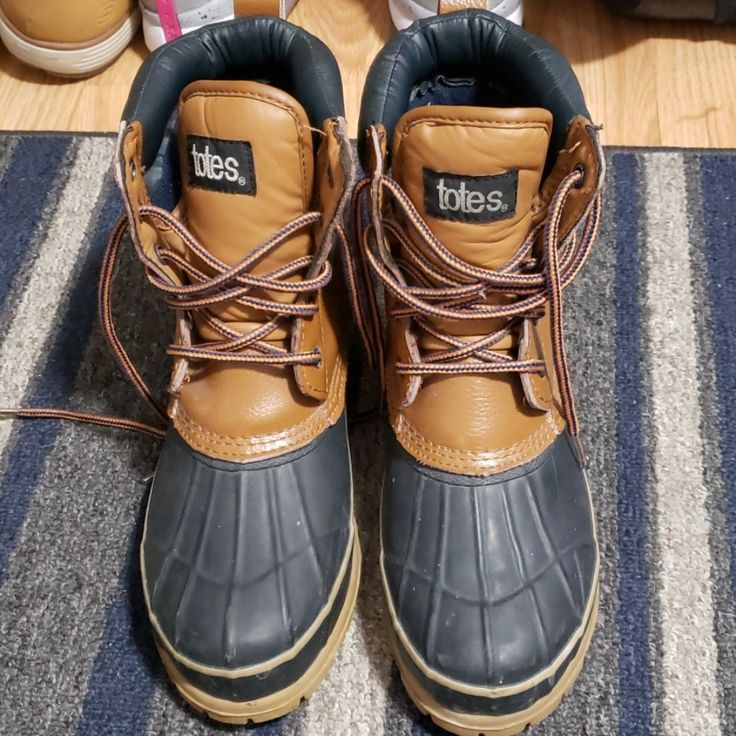 Totes Shoes |  Gently Used Women'S Totes Boots Size 9 | Color: Black/Brown |…