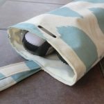 Travel shoe bags + technique: a finished opening in fabric