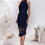 Two Sisters Rivers Midi Dress in Black