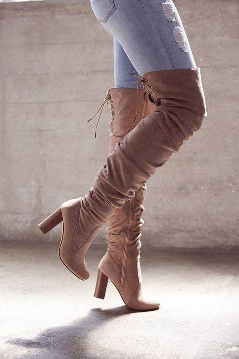 Unique Ruched Over-The-Knee Boots Cheap hot H5710 from Eoooh❣❣