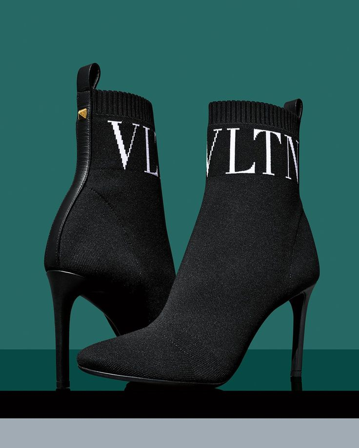 Valentino Booties: Monochrome VLTN Ankle Boots