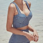 Vintage Plaid High-waisted fit Bikini Sets