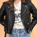 Vintage Womens Leather Motorcycle Jacket | M | 80's 90's leather jacket