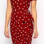 WANTED STYLE — Retro dot pencil dress // buy here