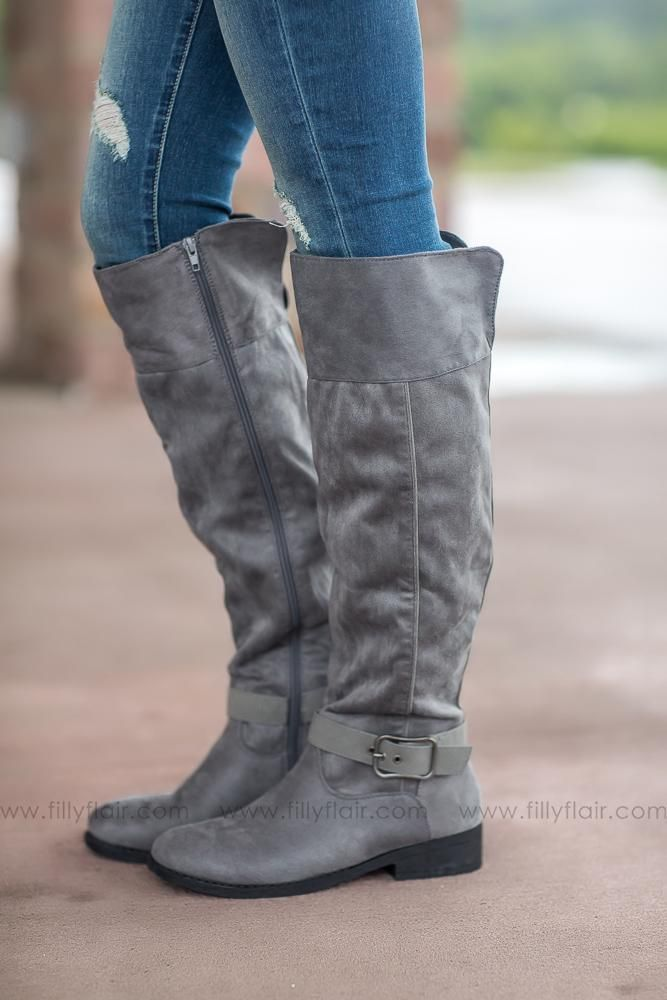 Walk of Life Plateau Grey Tall Boots