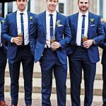 Wedding Tuxedos Two Button Groom Tuxedos Groomsman Suit Blue Wedding Party Suit Jacket+Pants Custom Made For Evening Party YY021 White Tuxedos For Men Best Tuxedos For Prom From Yymdress, $72.53| DHgate.Com