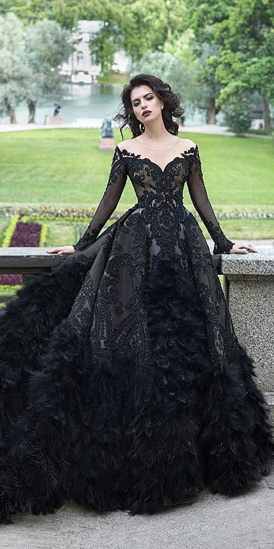 Wedding dresses ball gown vintage with sleeves prom dress