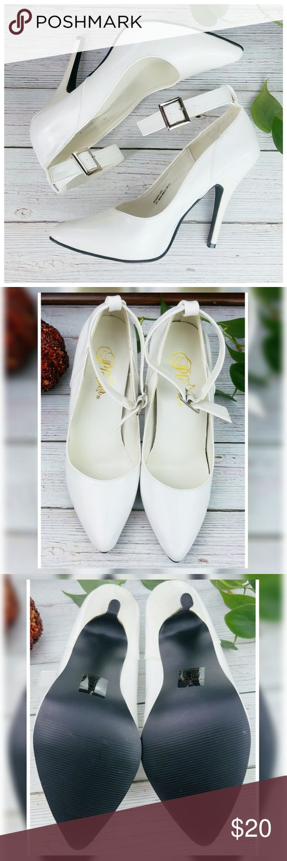 White Anklestrap Heels Very cute great used condition! They are several years ol…