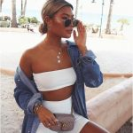White Cycling Shorts And Bandeau Co -ord - Edrie