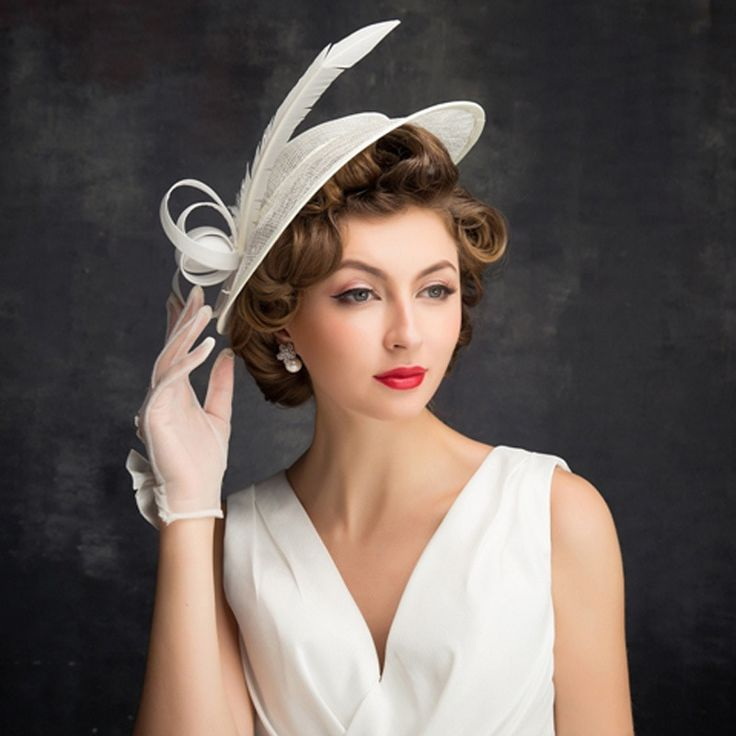 White Party Sinamay Hats For Wedding British Style Ladies Vintage Formal Dress Ladies Fedora Kentucky Derby Church Hat Women M95 [orc32960443057] – $58.52 : PopNobility
