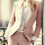 Women Ladies Custom Made Pink Business Office Tuxedos Formal Work Wear New Suit