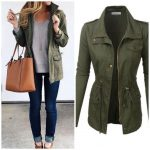 Womens Anorak Utility Military Jacket with Drawstring Lightweight, soft cotton m...