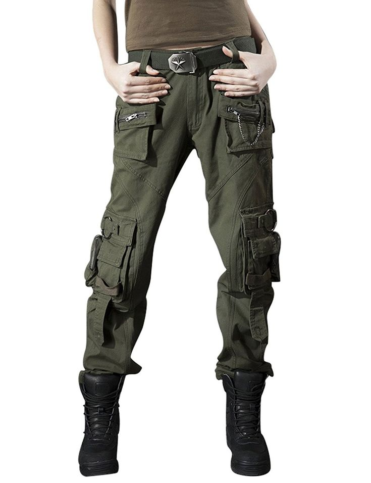 Women's Clothing, Pants, Women's Casual Outdoor Military Cargo Pants With Multi …