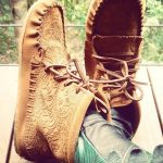 Women's Floral Embossed Suede Moccasin Boots 2920227