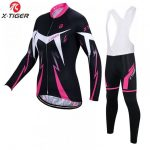 X-Tiger Anti-UV Spring Womens Cycling Clothing 100% Polyester Bicycle Cycling Wear Cycling Bike Clothes Cycling Jersey Set