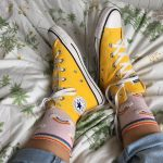 Yellow All Star Converse High trainers.