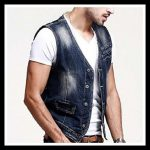 Zicac Mens Denim Vest 🌶Raw edges on arm openings  🌶Silver tone anchor butt...