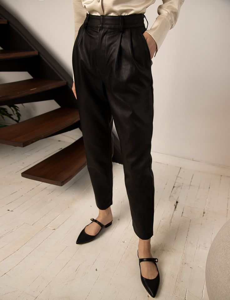 Jesse Leather Trousers