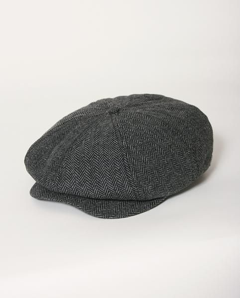 Brixton Hats – Brood Snap Cap Grey Black – S
