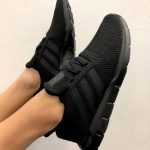 adidas Originals Swift Run in Black. Stylish all black sneakers for 2018.
