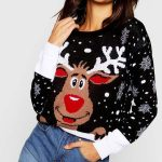 boohoo Reindeer Christmas Jumper Christmas sweater