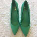 mix no. 6 / mint teal point toe high heel shoes worn once size 11 point toe high...