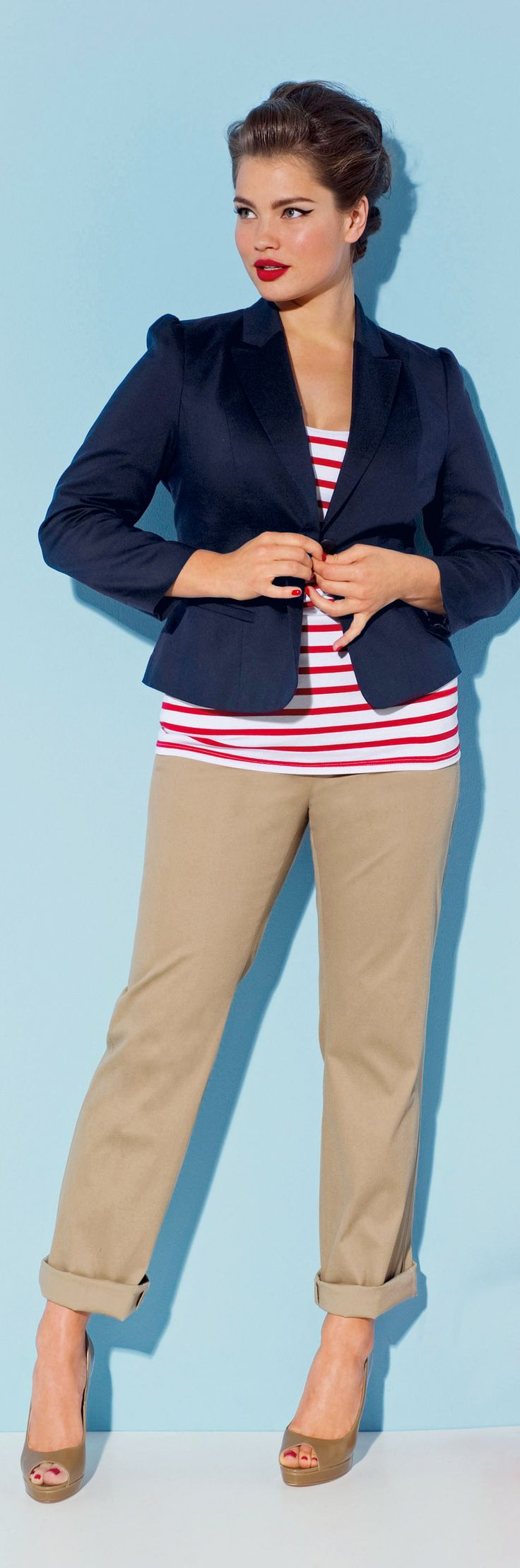 plus size nautical stripes – see more cruise wear at boomerinas.com/…