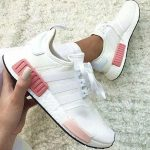 """simpleclothesv : """"Adidas"""" NMD Fashion Sneakers Trending Running Sports Shoes Whtie-pink"""